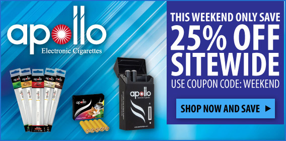 Apollo Weekend 25% Coupon Code Sale banner.
