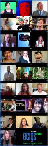 eCigs HQ Official Spokesperson Contest screenshots.