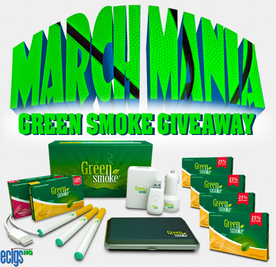 Green Smoke March Mania Giveaway banner.