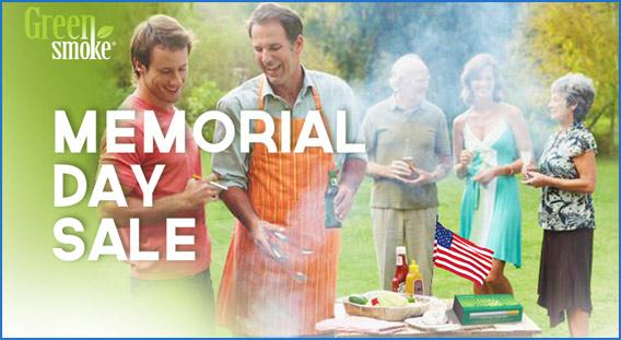 Green Smoke Memorial Day Coupon Code Sale Coupon Code banner.