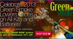 Green Smoke Reduces Prices on All Kits and Batteries!