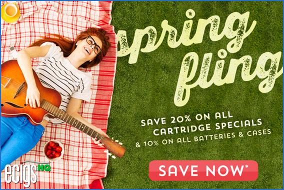 Green Smoke Spring Sale Coupon Code banner.