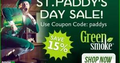 Green Smoke St. Paddy's Day Sale!