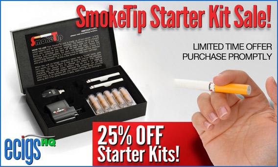 SmokeTip 25% Off Starter Kits Sale photo 1.