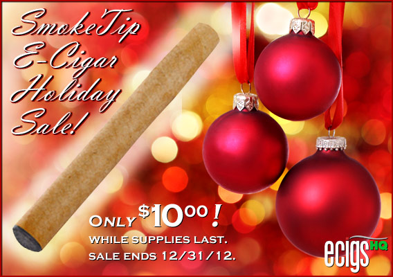 SmokeTip e-Cigar Holiday Sale photo 1.