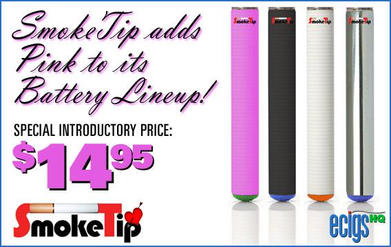 SmokeTip Pink Battery Sale photo 1.