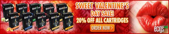 South Beach Smoke Valentine's Cartridge Sale photo 1.