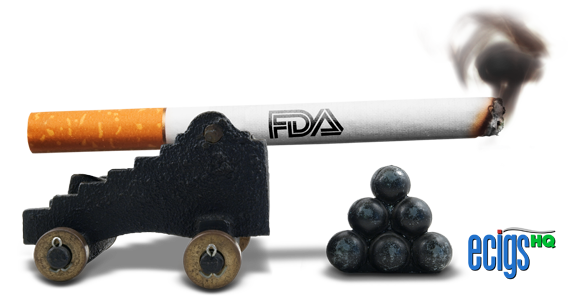 The FDA's War on E-cigarettes illustration.