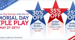 V2 Cigs Memorial Day Coupon Code Sale!