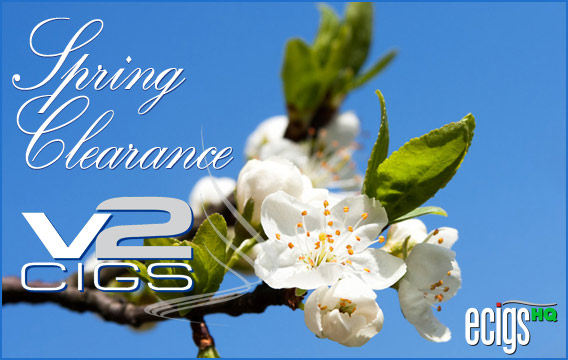 V2 Cigs Spring Clearance Sale banner.
