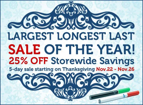 V2 Cigs Thanksgiving Sale photo.