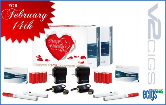 V2 Cigs Valentine's Day Sale banner.