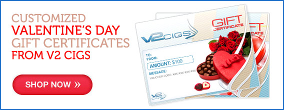 V2 Cigs Valentine's Day Gift Certificate photo.