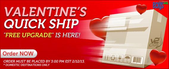 V2 Cigs Valentine's Sale banner.